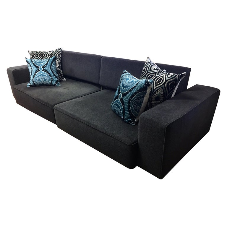 B&B Italia Signed Andy Two-Piece Sectional Sofa by Paolo Piva Made in Italy For Sale