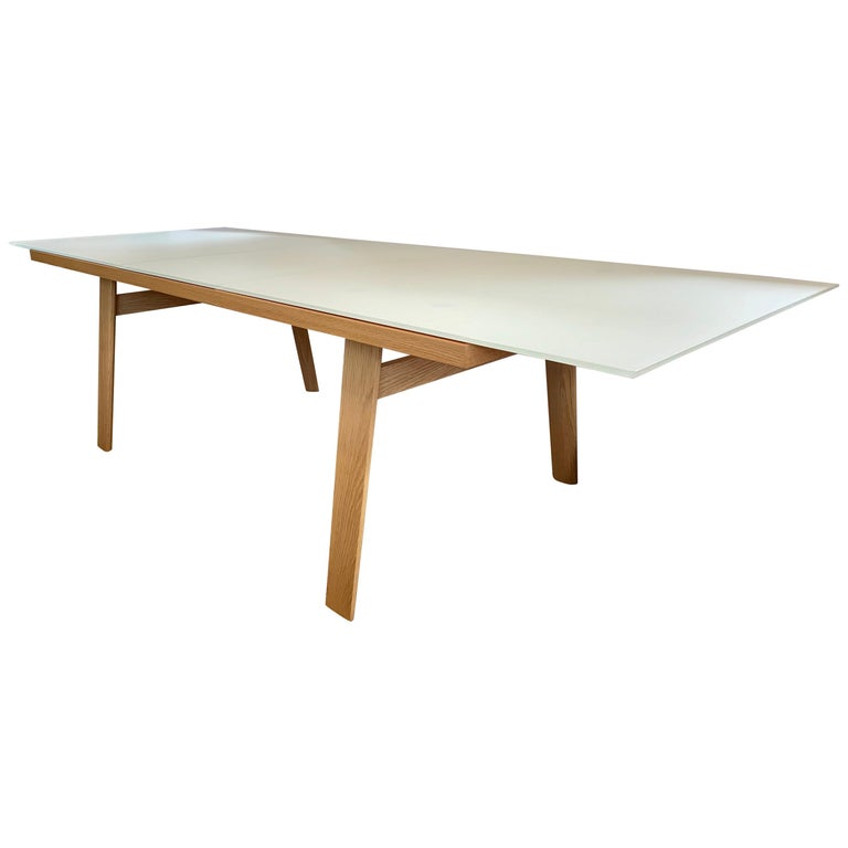 B Italia Signed Expandable Dining Room Hans Table By