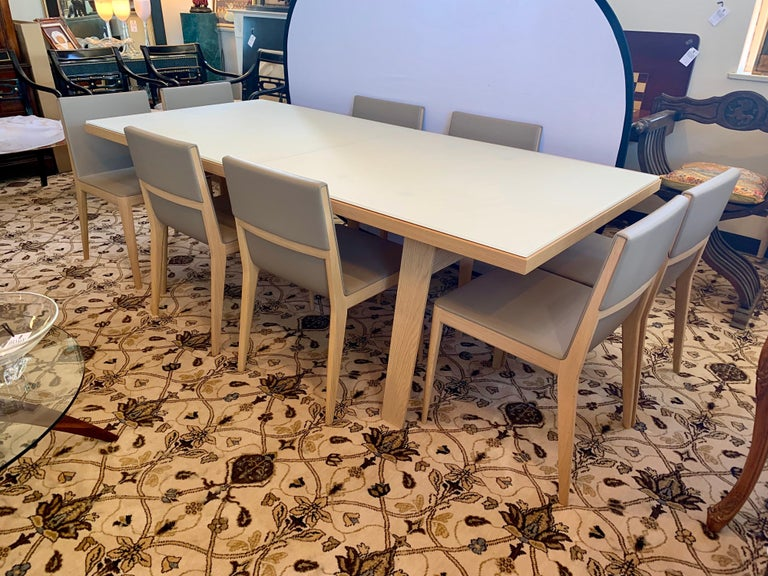 B Italia Signed Hans Extendable Dining Room Table And