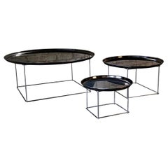 B&B Italia Signed Set of Three Patricia Urquiola Fat-Fat Nesting Coffee Tables