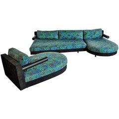 B&B Italia Sity Modular Sectional Sofa and Chaise Lounge Set by Antonio Citterio