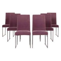 B&B Italia Solo 'B&B' Velvet Chair Set Lilac Fabric Set