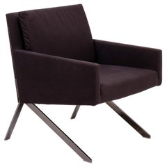 B&B Italia Theo Brown Fabric Armchair by Vincent Van Duysen, 2012