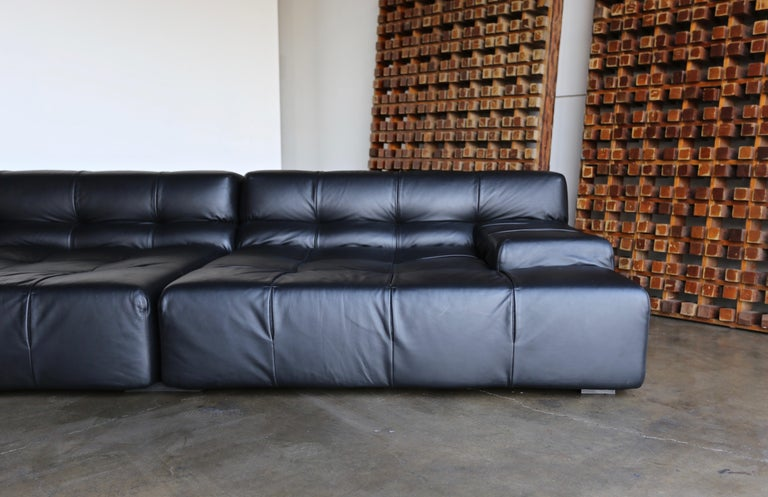 Modern B&B Italia Tufty Time Leather Sofa by Patricia Urquiola For Sale
