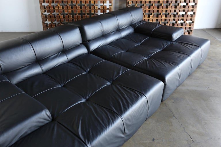 Italian B&B Italia Tufty Time Leather Sofa by Patricia Urquiola For Sale