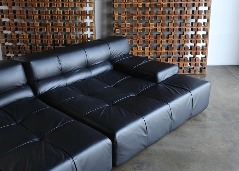 20th Century B&B Italia Tufty Time Leather Sofa by Patricia Urquiola For Sale