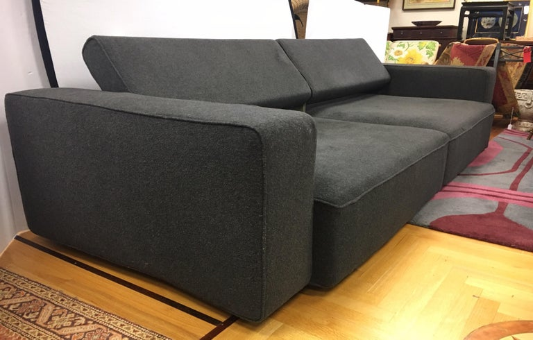 B&B Italia Two-Piece Sectional Andy Sofa Made in Italy Paolo Piva For Sale 9