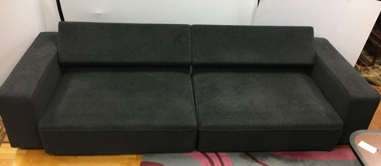 B&B Italia Two-Piece Sectional Andy Sofa Made in Italy Paolo Piva In Good Condition For Sale In West Hartford, CT