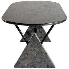 BBB Bonacina, Rare Theo table in marble and slate, Italy 1980