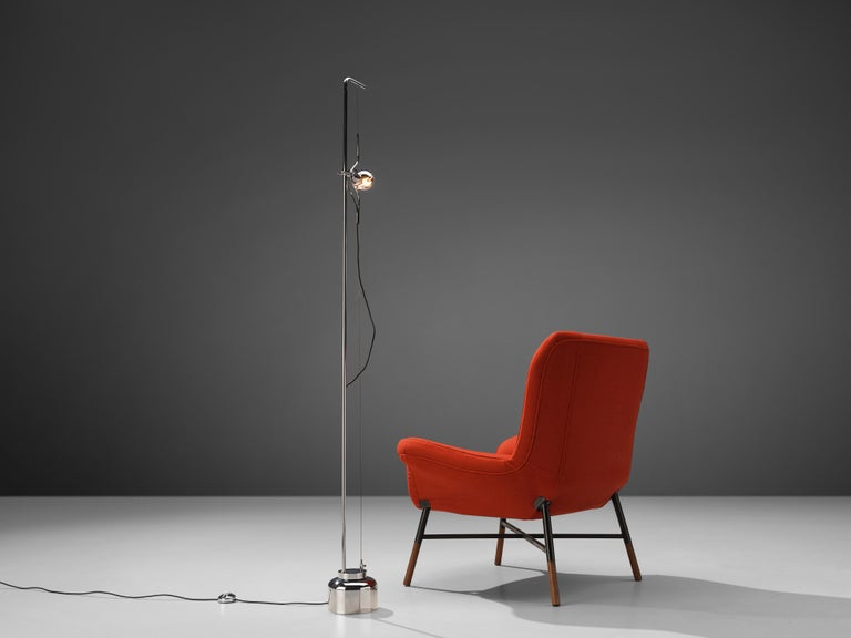 Late 20th Century BBPR 'Giulietta' Lounge Chair and Angelo Lelii 'Filosfera' Floor Lamp For Sale