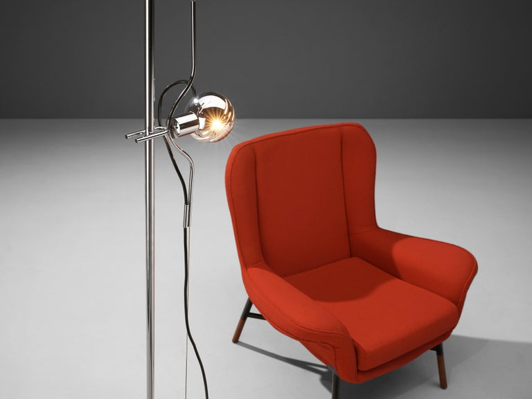 BBPR 'Giulietta' Lounge Chair and Angelo Lelii 'Filosfera' Floor Lamp For Sale 1