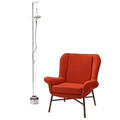 BBPR 'Giulietta' Lounge Chair and Angelo Lelii 'Filosfera' Floor Lamp