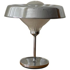 "Bbpr, ""Ro"" Table Lamp, Chrome-Plated Metal, Glass, Artemide, Italy, 1970"