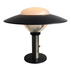 BBPR Table Lamp Glass Metal Crome, 1960, Italy
