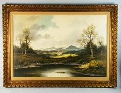 Oversized German Bavarian Landscape 1960
