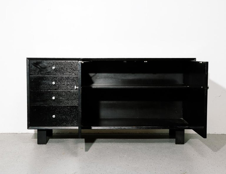 Mid-Century Modern BCS Ebony Cabinet by George Nelson For Sale