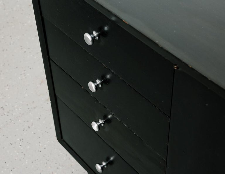 Mid-20th Century BCS Ebony Cabinet by George Nelson For Sale