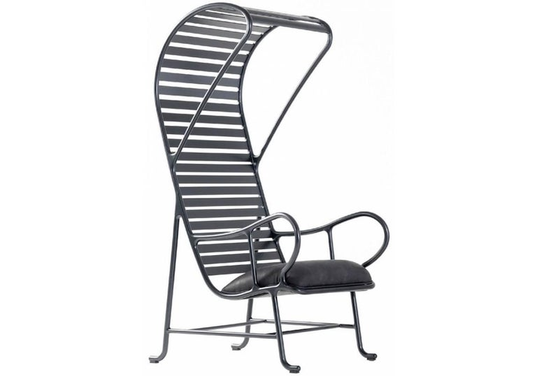 BD Barcelona Gardenia Outdoor Armchair with Pergola in Green, White or Grey For Sale 4