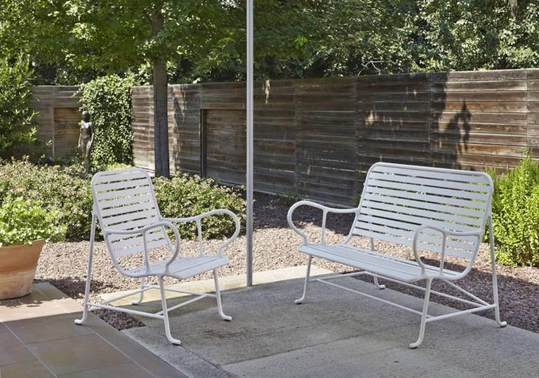 Spanish BD Barcelona Gardenia Outdoor Bench by Jaime Hayon in Green, White or Grey For Sale
