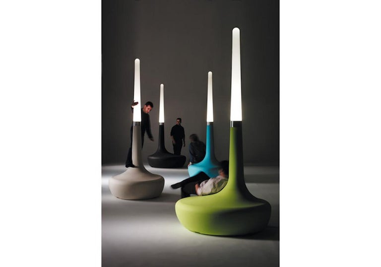 Organic Modern BDLove lamp by Ross Lovegrove in green For Sale