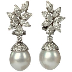 Be a Star with Those South Sea Pearl and Diamond Earrings