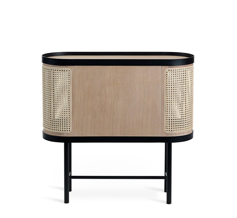 Chinese Be My Guest Cane Bar Cabinet by Charlotte Høncke for Warm Nordic For Sale