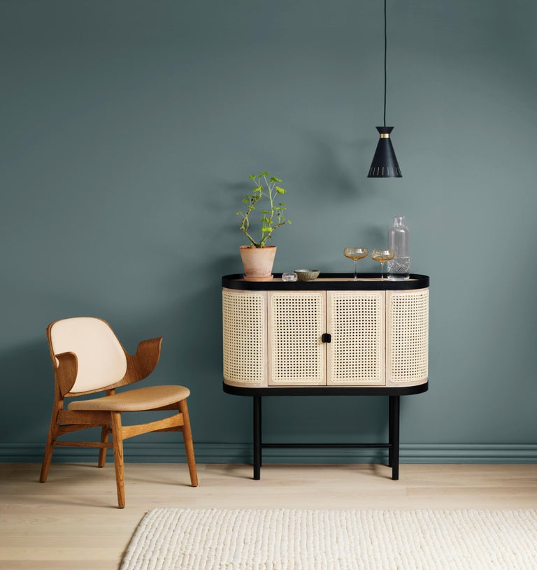 Powder-Coated Be My Guest Cane Bar Cabinet by Charlotte Høncke for Warm Nordic For Sale