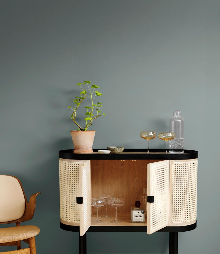 Be My Guest Cane Bar Cabinet by Charlotte Høncke for Warm Nordic In New Condition For Sale In Viby J, DK