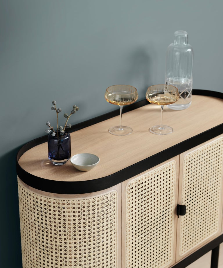 Contemporary Be My Guest Cane Bar Cabinet by Charlotte Høncke for Warm Nordic For Sale