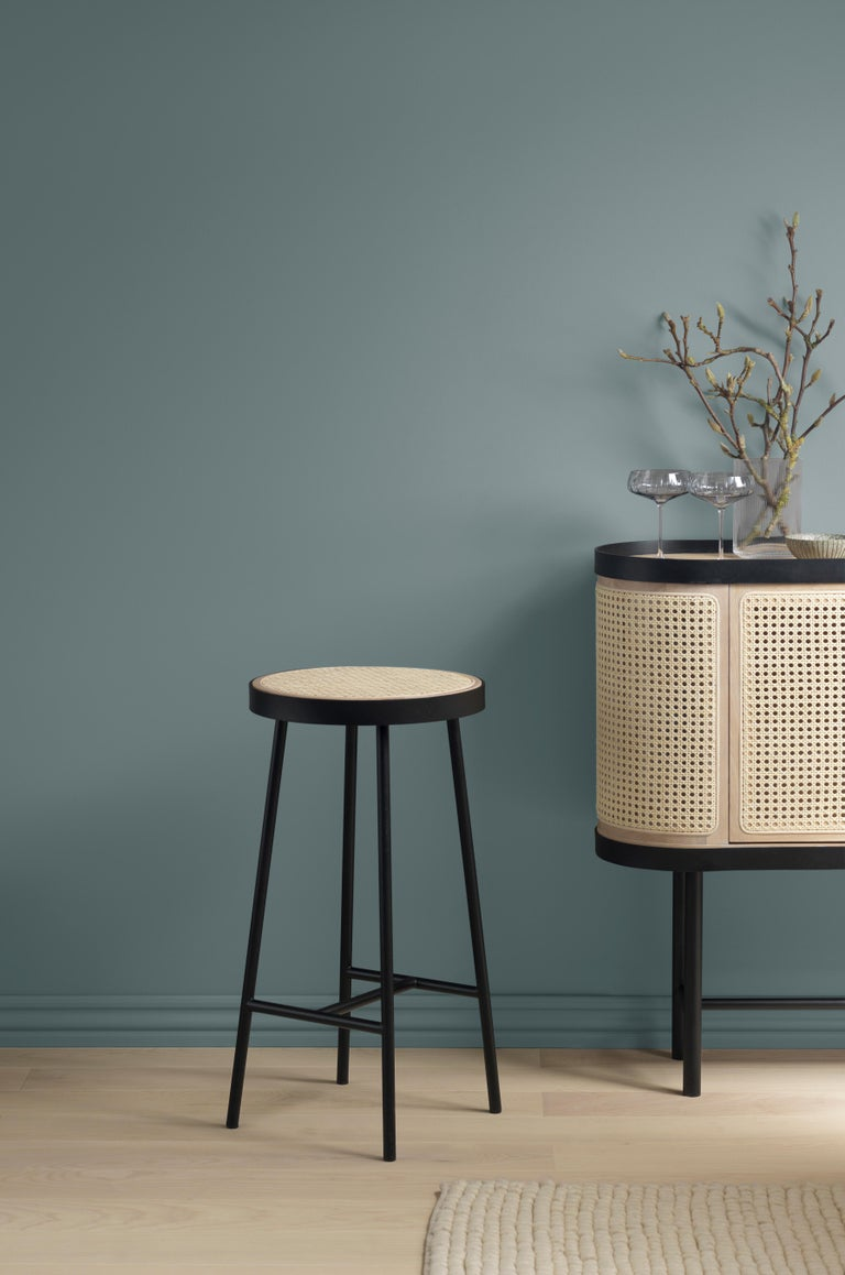 Steel Be My Guest Cane Bar Cabinet by Charlotte Høncke for Warm Nordic For Sale