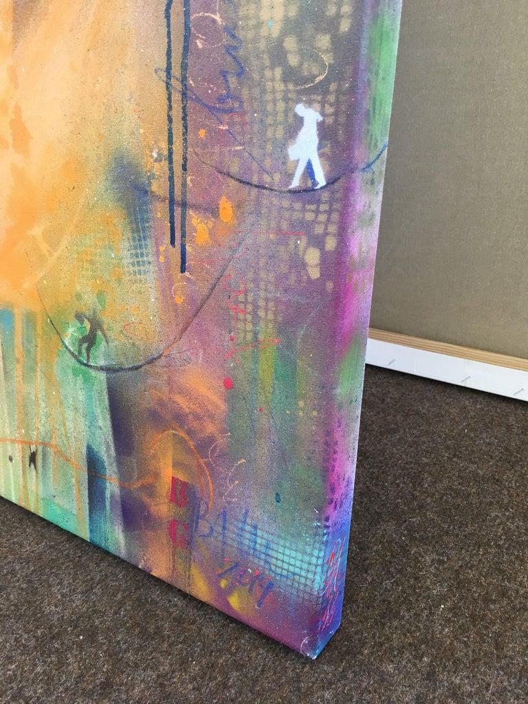 building bridges IX, Mixed Media on Canvas - Abstract Mixed Media Art by Bea Garding Schubert