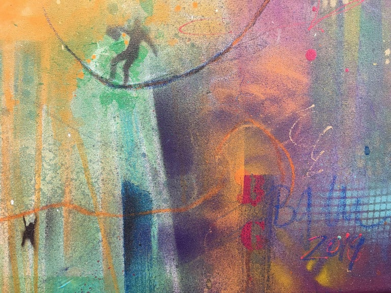 building bridges IX, Mixed Media on Canvas For Sale 2