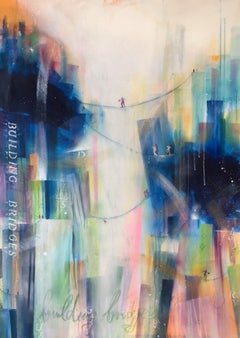 building bridges X, Mixed Media on Canvas