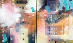 home IV/V (diptychon), Mixed Media on Canvas