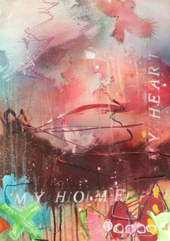 my home and my heart V, Mixed Media on Canvas