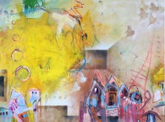 my home and my heart VI (XXL), Mixed Media on Canvas