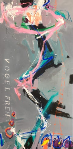 vogelfrei IV, Mixed Media on Canvas