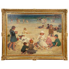 'Beach scene' by Garnet Ruskin Wolseley, circa 1920