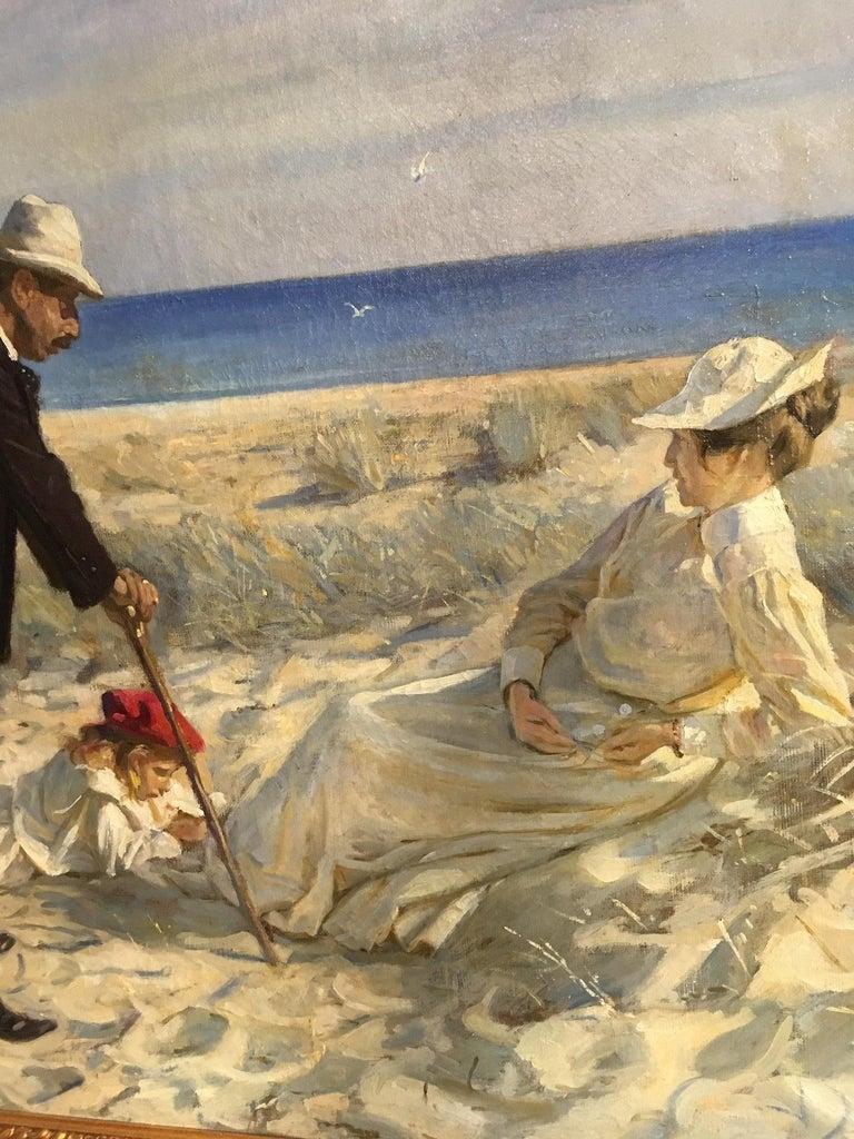 19th Century Beach Scene by Prof. Valdemar Irminger For Sale