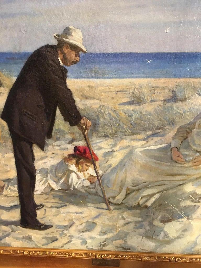 Canvas Beach Scene by Prof. Valdemar Irminger For Sale
