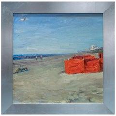Beach Scene with Orange Tent Katwijk Aan Zee, Holand, Andre Krigar