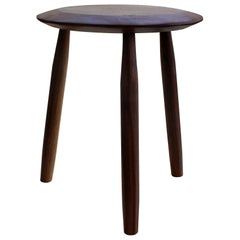 Beachcomber Milking Stool in Oiled Walnut in Stock