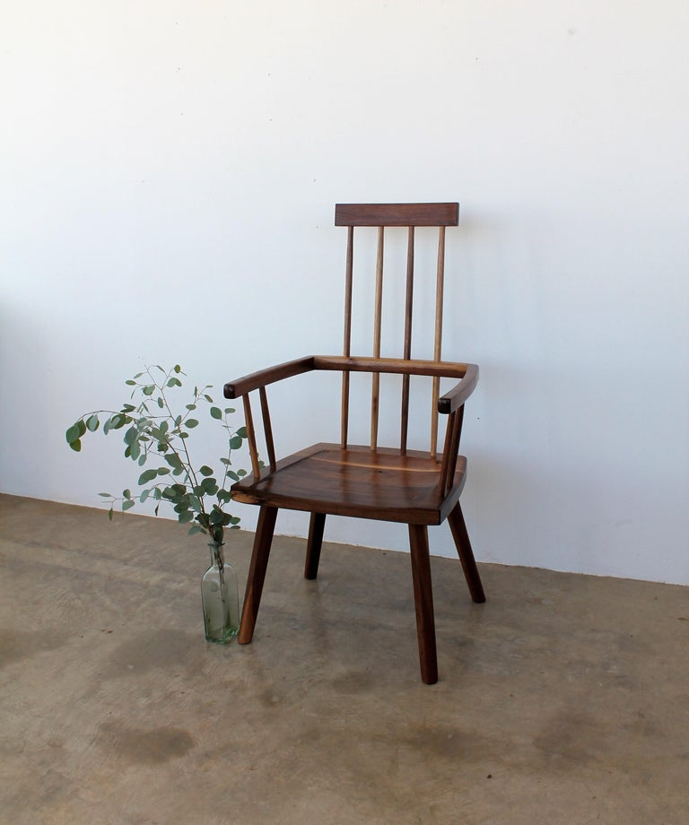American Beachcomber Spindle Back Chair in Walnut in Stock For Sale