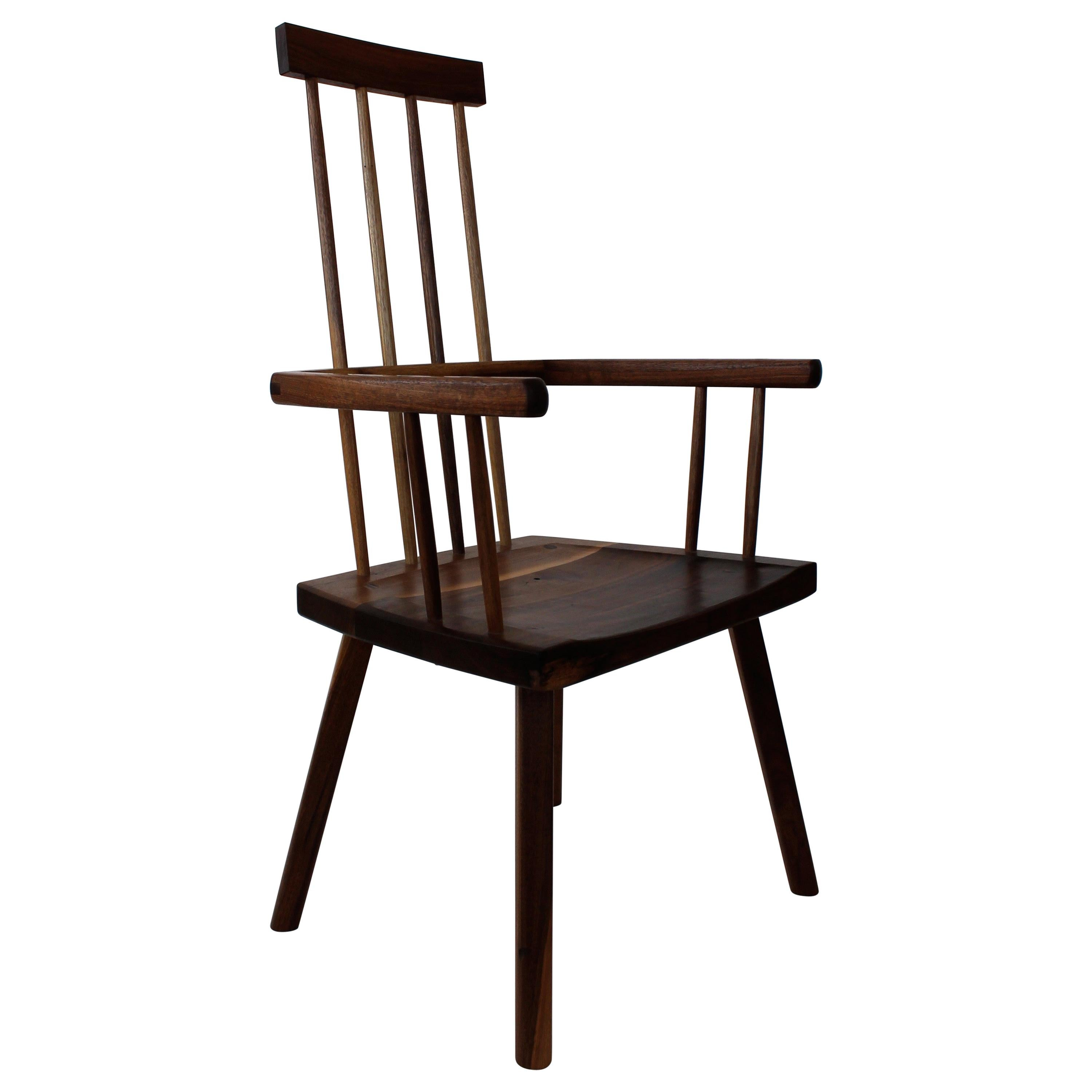 Beachcomber Spindle Back Chair in Walnut