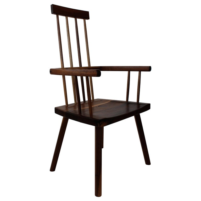 Beachcomber Spindle Back Chair in Walnut For Sale
