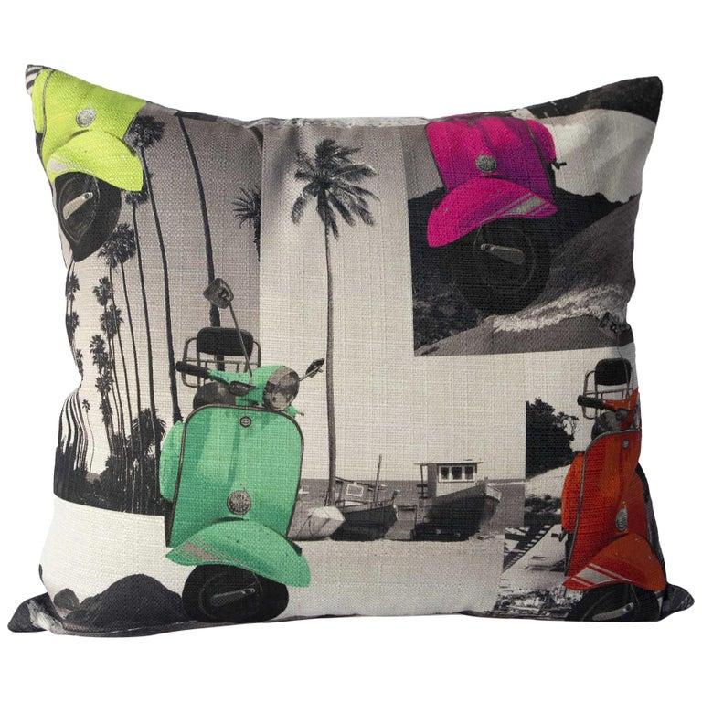 Beachtime Retro Pillow  For Sale