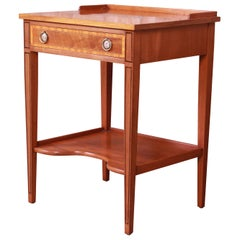 Beacon Hill Collection Federal Style Banded Mahogany Nightstand