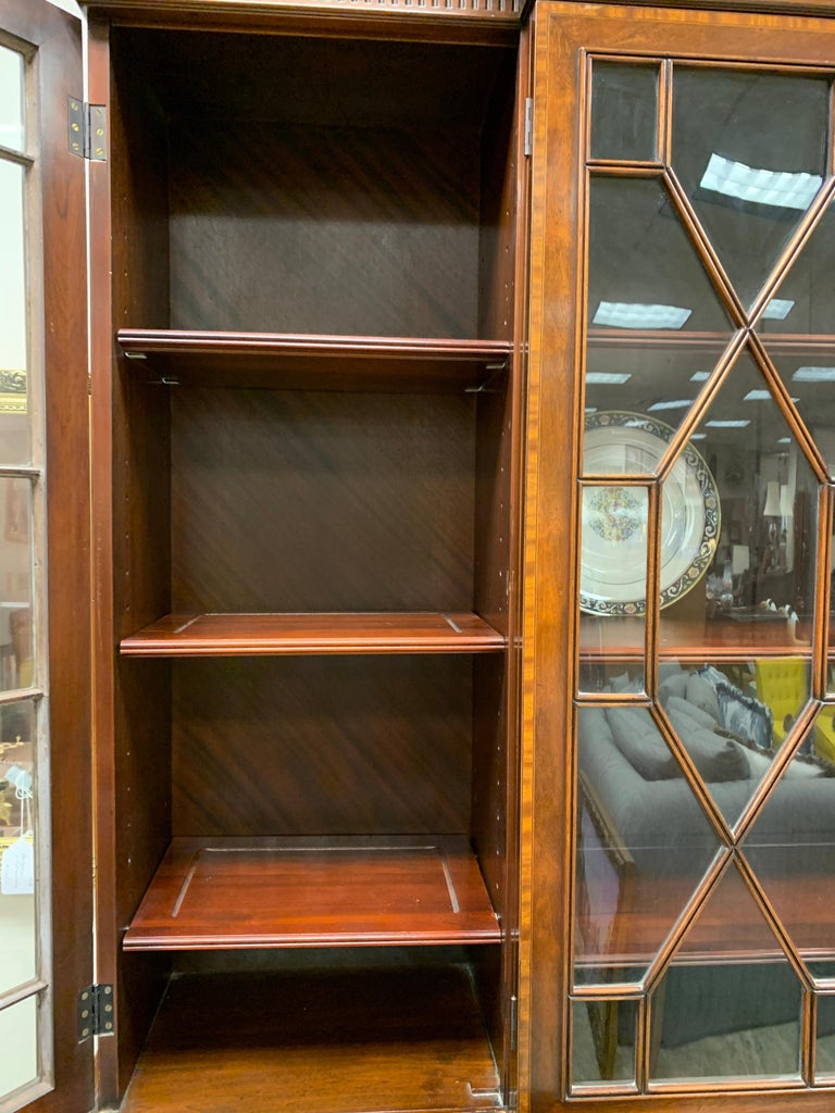 Beacon Hill Flame Mahogany Breakfront China Cabinet For Sale 2