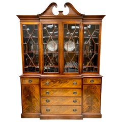 Beacon Hill Flame Mahogany Breakfront China Cabinet