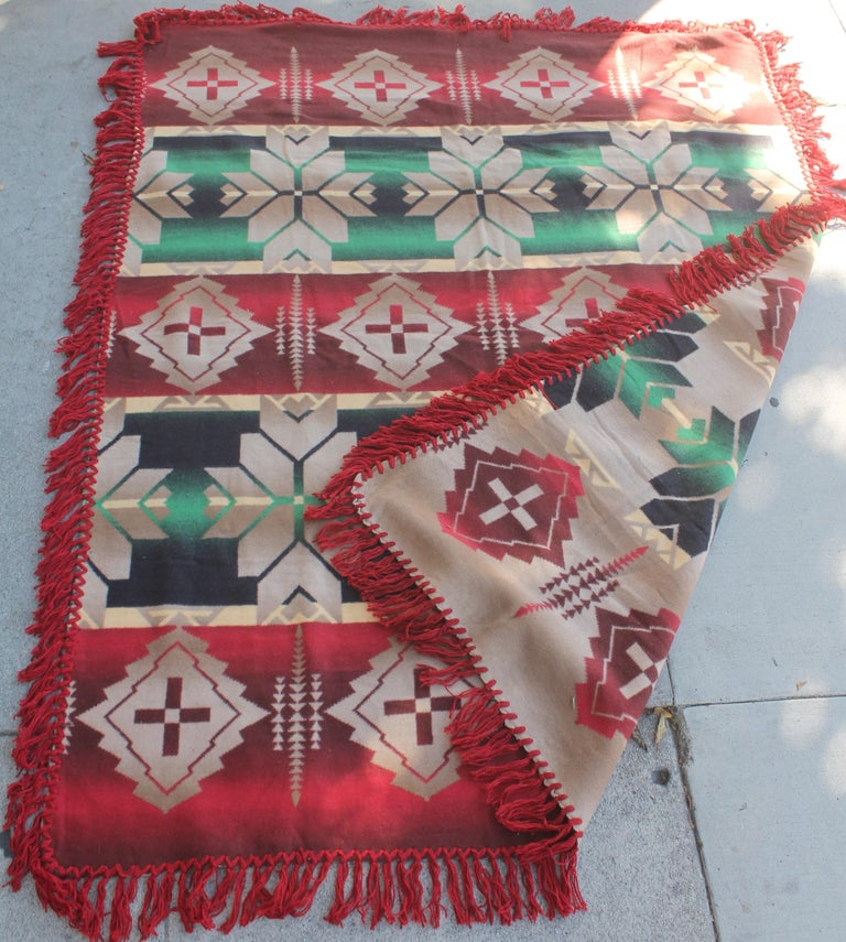 Adirondack Beacon Indian Design Camp Blanket For Sale